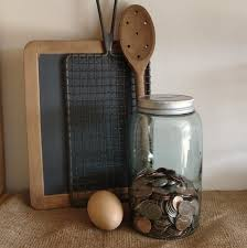 Vintage Kitchen Decor With Style Mason Jar Bank Metal Tight Lids