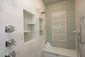 bathroom glass tile shower