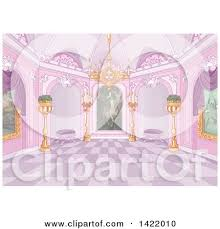 Preview Clipart Pink Palace Interior With Plants Candles A Chandelier And Paintings