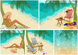 Summer Beach Posters 2014 Vector
