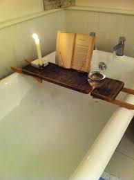 diy bathtub caddy with reading rack bathtub tray diy search upcycling bathtub