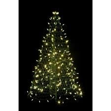 Pre Lit LED Green Artificial Christmas Tree With Frame