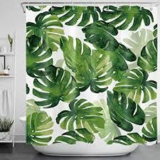 lb grün blätter duschvorhang anti schimmel tropische