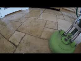 travertine grout cleaning