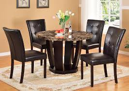 Round Faux Mable Dining TableGlobal Trading
