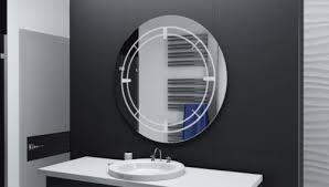 binnenhuisinrichting badspiegel rund m led beleuchtung