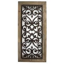 Metal And Wood Scroll Work Wall Plaque China