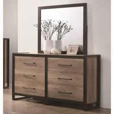 6 Drawer Dresser With Mirror by Coaster Edgewater 6 Drawer Dresser With Mirror Coaster Fine