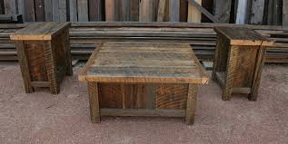 Collection In Rustic Coffee Table Sets Reclaimed Barnwood End Set Echopeakdesign