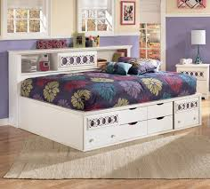 ashley signature design zayley full bedside bookcase daybed with