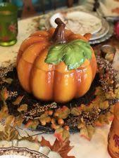 Pumpkin Soup Tureen And Bowls by Studio Nova Ceramic Pumpkin Soup Ladle Tureen Fall Harvest Ebay