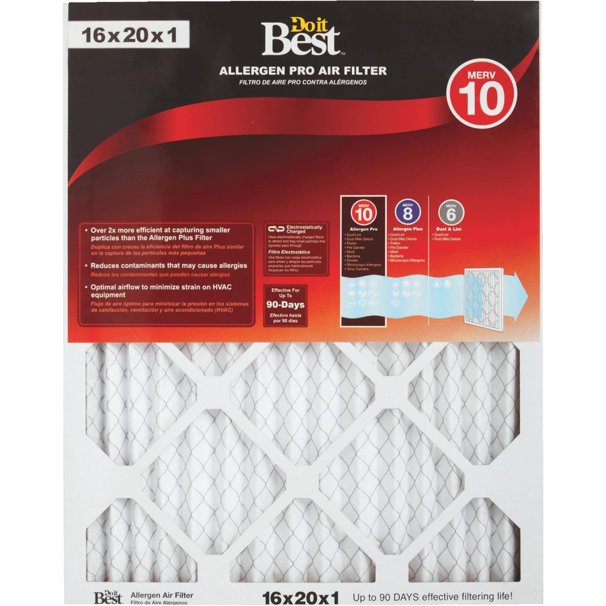 Do it Best Electric Air Filter - Size 16X20X1
