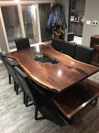 live edge single slab harvest table live edge dining table