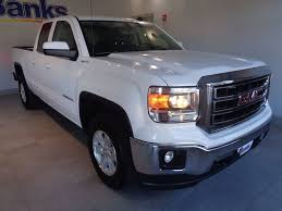 2014 Used GMC Sierra 1500 4WD Double Cab Standard Box SLE At Banks ... 2014 Gmc Sierra Front View Comparison Road Reality Review 1500 4wd Crew Cab Slt Ebay Motors Blog Denali Top Speed Used 1435 At Landers Ford Pressroom United States 2500hd V6 Delivers 24 Mpg Highway Heatcooled Leather Touchscreen Chevrolet Silverado And 62l V8 Rated For 420 Hp Longterm Arrival Motor Lifted All Terrain 4x4 Truck Sale First Test Trend Pictures Information Specs