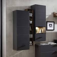 wohnzimmer hängeschrank in dunklem grau nivita