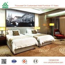Luxury Suite Room Furniture Upholstered Double Beds For Sale