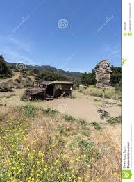 Malibu Creek State Park Movie Sign And Truck Editorial Image - Image ...