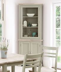 decoration small glass display units white glass cabinet grey