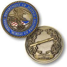 federal bureau of justice department of justice federal bureau of prisons doj challenge coin