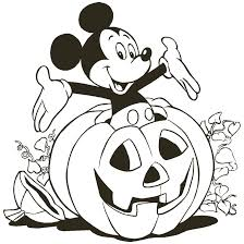 Clever Halloween Coloring Pages Disney Mickey Mouse Free