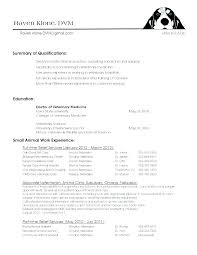 Vet Tech Resumes Resume Samples Veterinary Assistant Summary Examples No Experience