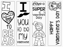 Free Printable Coloring Valentine Bookmarks Primary Possibilities S Day Freebie