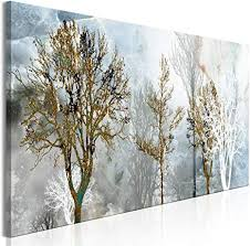 decomonkey bilder abstrakt 120x40 cm 1 teilig leinwandbilder bild auf leinwand vlies wandbild kunstdruck wanddeko wand wohnzimmer wanddekoration deko
