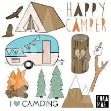 Happy Camper Clipart 12 PNG Files Transparent By Coramaedesign
