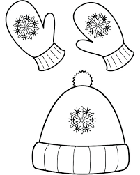Winter Printable Coloring Pages Clothes Scene Free