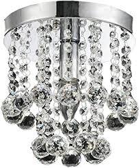 afsemos kronleuchter kristall deckenleuchten lüster kronleuchter aus chrom für wohnzimmer schlafzimmer esszimmer ø 15cm