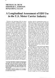 PDF) A Longitudinal Assessment Of EDI Use In... Pauls Transport Trucking Technology Edi Transportation Pdf Determinants Of Adoption In The Partners Tmw Systems Transnet Port Terminals Copino Case Study Ect Terminal My Notes Doing Business With Fortune 500 Companies Become Compliant To Api The Future Supply Chain Management Dgd 84 Best Virtual Logistics Images On Pinterest Digital Marketing E Beyond Part 2 Trustless Freight Traactions Resume_english_pdf