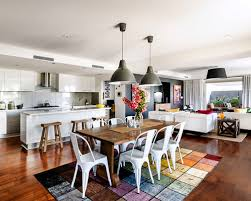 Open Plan Kitchen Living Room Layouts Prepossessing And Design Interior