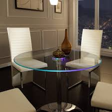 Dining Room Chairs For Glass Table by Elysium Led Dining Table Brookstone