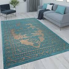 orient teppich vintage optik türkis