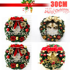 30cm Christmas Wreath Window Door Decor Hanging Ornament Flower