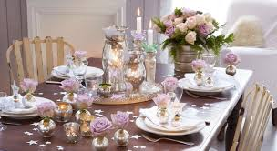 deco noel de table décoration de table romantique pour noël prima