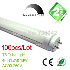 free shipping dimmable 100pcs lot 4ft t8 led fluorescent