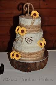 Burlap Raffia And Sunflowers Sunflower WeddingsWedding Cakes