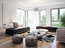 wohnzimmer ideen modern in grau schwarz weiß