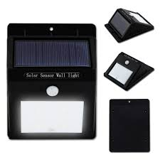 bright 4 led wireless solar powered motion sensor wall light led
