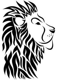 Click To See Printable Version Of Tribal Lion Tattoo Coloring Page