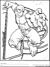 Beautiful Avengers Coloring Pages With Hulk And