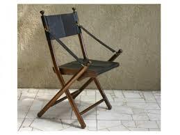 chaise de pliante la chaise pliante goa acajou et cuir chaise