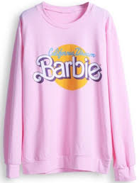 Sweater Pink Barbie Doll Cute Girly Fall Outfits Winter Chilly Weather Comfy California Dream Swag Sweatshirt