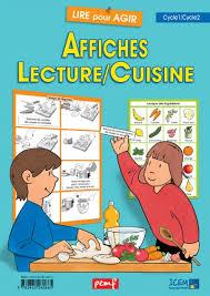 fiche p馘agogique atelier cuisine affiches lecture cuisine lire pour agir coop icem