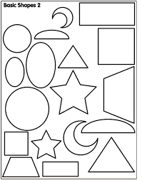 Basic Shapes 2 Coloring Page