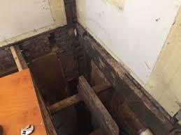 Distance Between Floor Joists Canada by Carpentry Repair Or Replace Cut Floor Joist Home Improvement