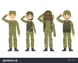 Army Soldier Clipart Militant Female 14