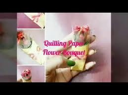 3D Quilling Paper Flower Bouquet