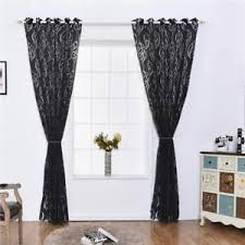 rideau fenetre chambre rideau voilage fenêtre floral décoration pour chambre salon noir